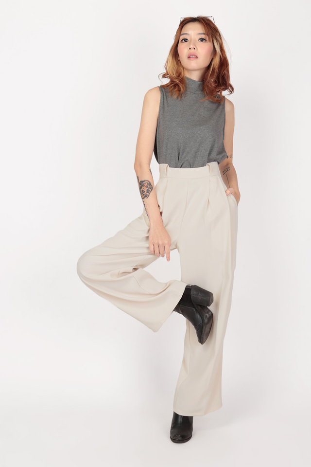 ANGELES PALAZZO PANTS IN CREAM