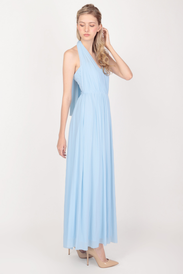 ATHENA MESH DRESS IN SKY