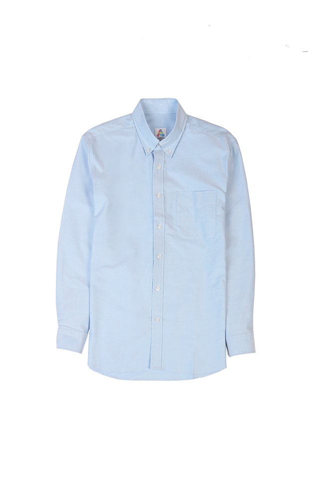 COTTON OXFORD SHIRT IN SKY