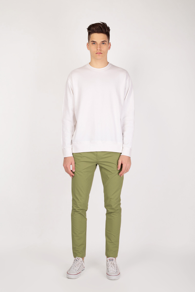 PARKER SLIM-FIT CHINOS IN LEMON-OLIVE
