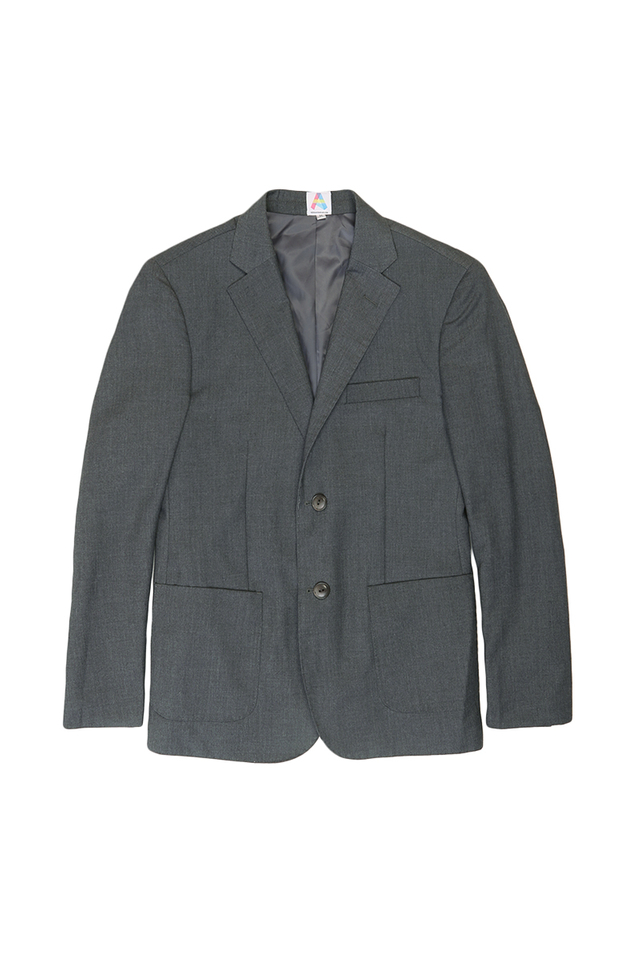 SINGLE-BREASTED SUIT BLAZER IN GREY
