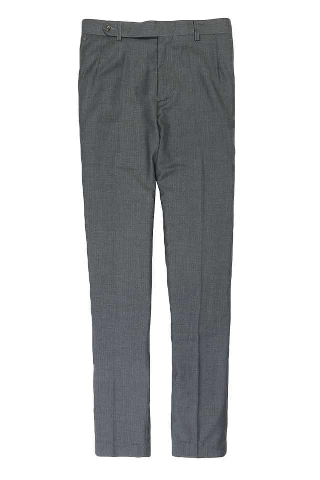SLIM-FIT DARTED SUIT TROUSERS IN GREY