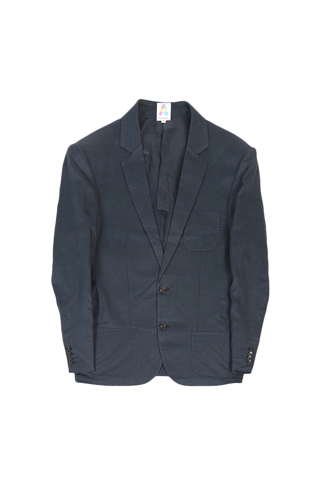LIGHTWEIGHT LINEN BLAZER IN NAVY
