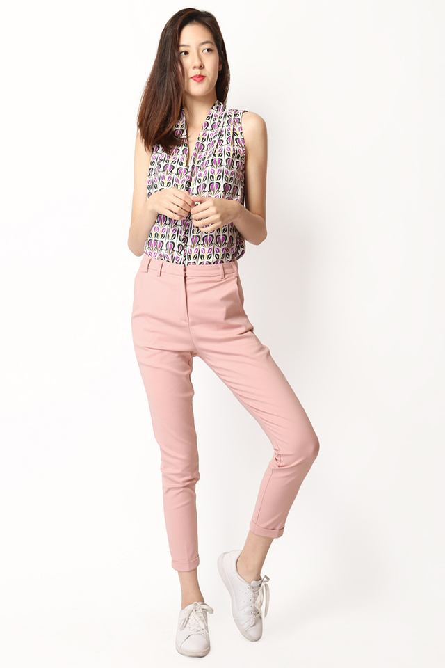 STANS CUFF PANTS IN DUSTY PINK