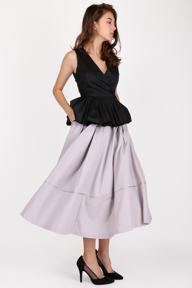 HUNTINGTON ANKLE SKIRT IN GREY