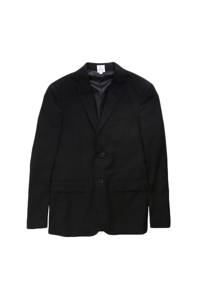 SINGLE-BREASTED SUIT BLAZER IN BLACK