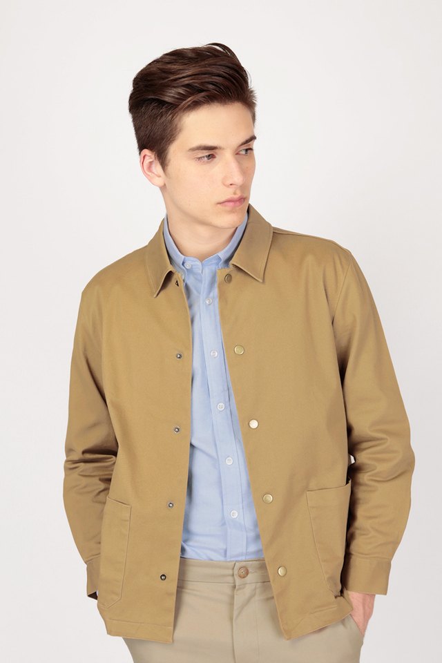 MARSHALL TWILL SHIRT JACKET IN KHAKI