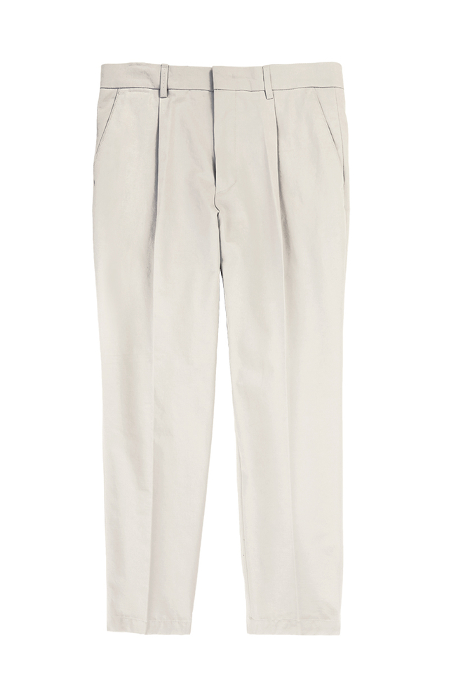 WIDE-FIT TAPERED TROUSERS IN GREY