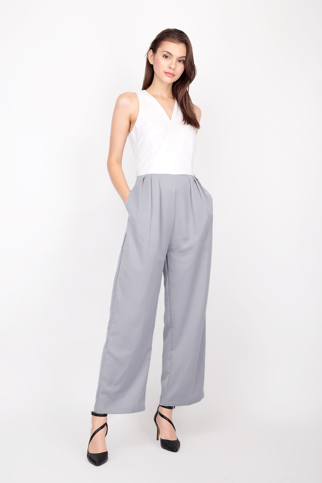 GIA PALAZZO JUMPSUIT IN GREY