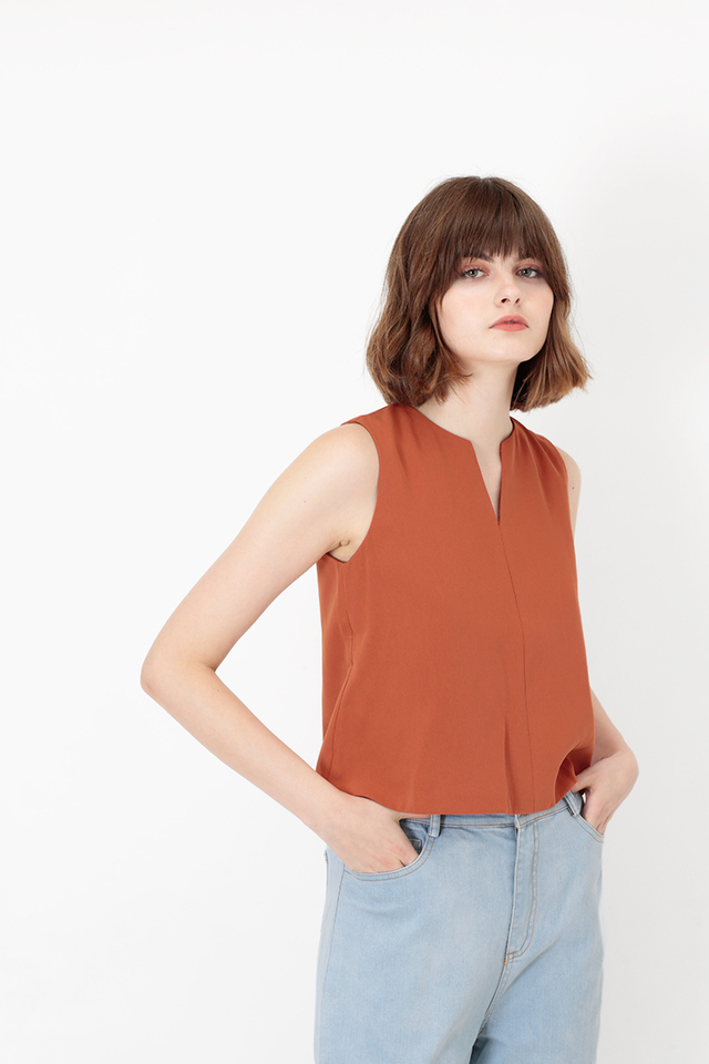 VICKY CROP TOP IN RUST