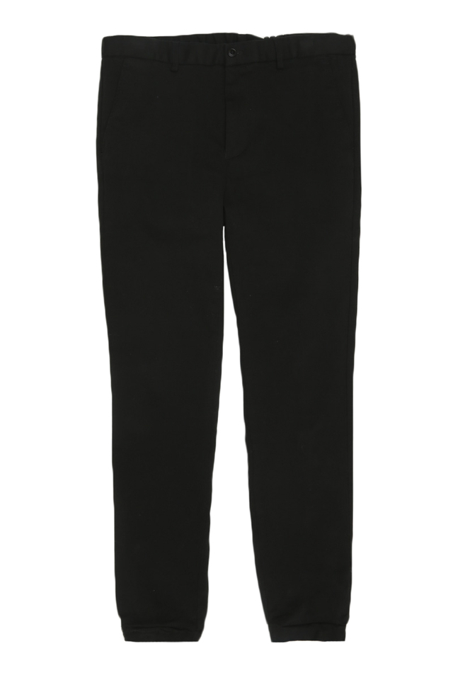 SLIM-FIT DRAWSTRING JOGGERS IN BLACK