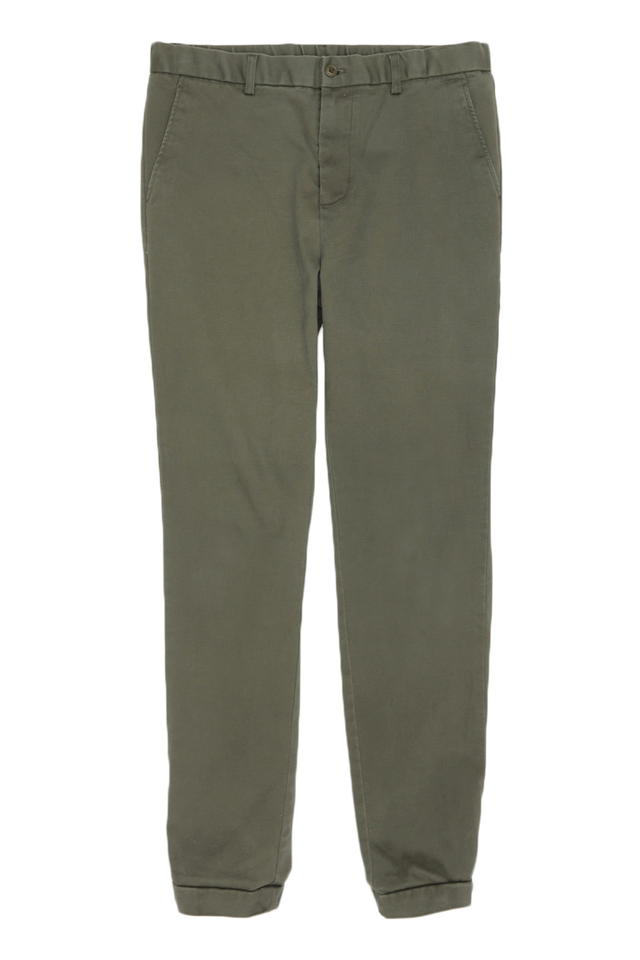 SLIM-FIT DRAWSTRING JOGGERS IN OLIVE
