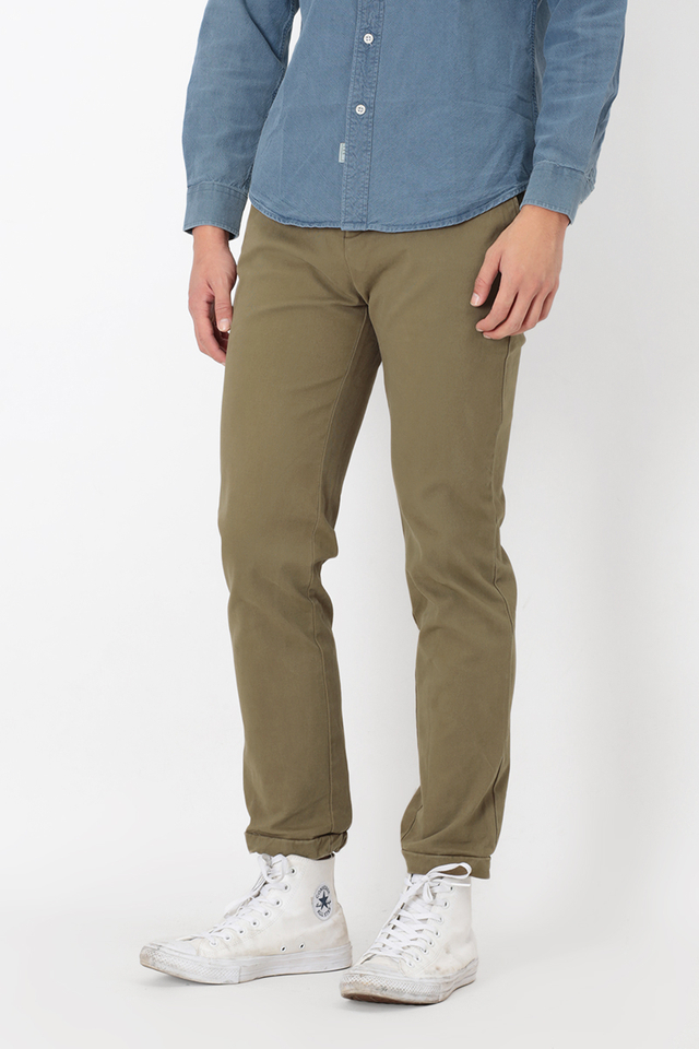 SLIM-FIT DRAWSTRING JOGGERS IN UMBER
