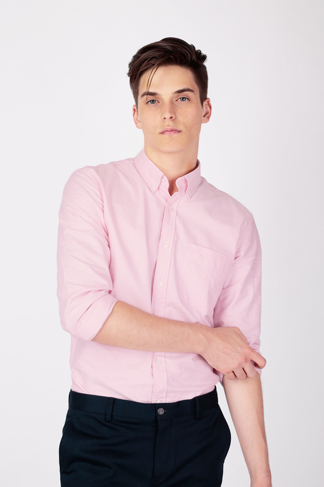 COTTON OXFORD SHIRT IN PINK