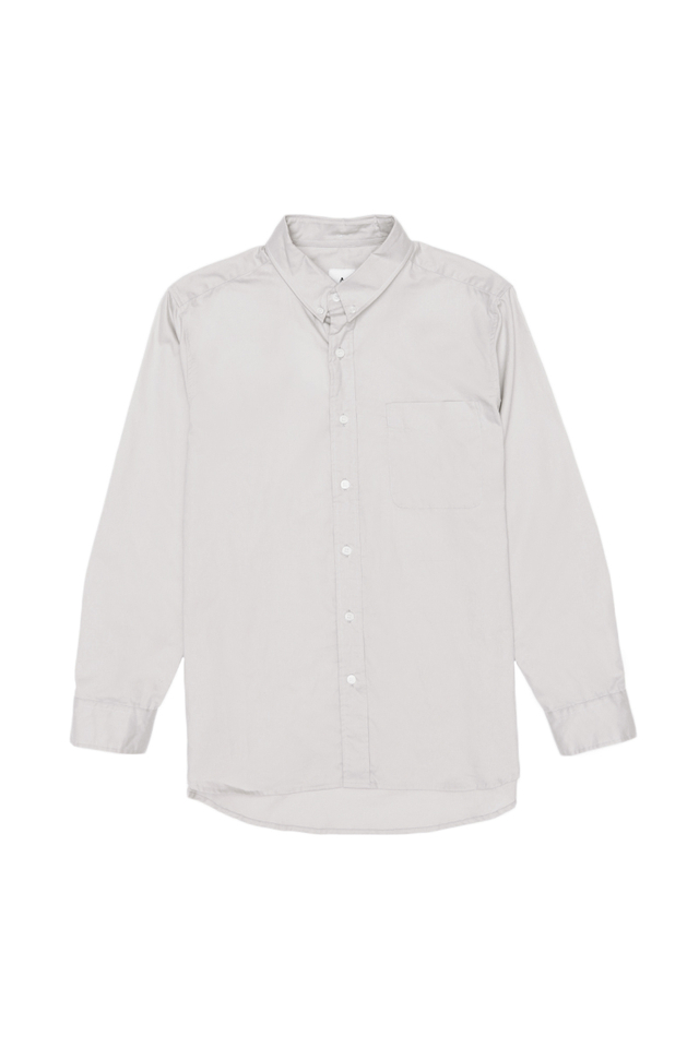 ALEXANDER BUTTON DOWN SHIRT IN LIGHT GREY