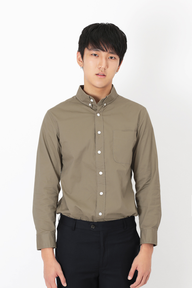 ALEXANDER BUTTON DOWN SHIRT IN UMBER