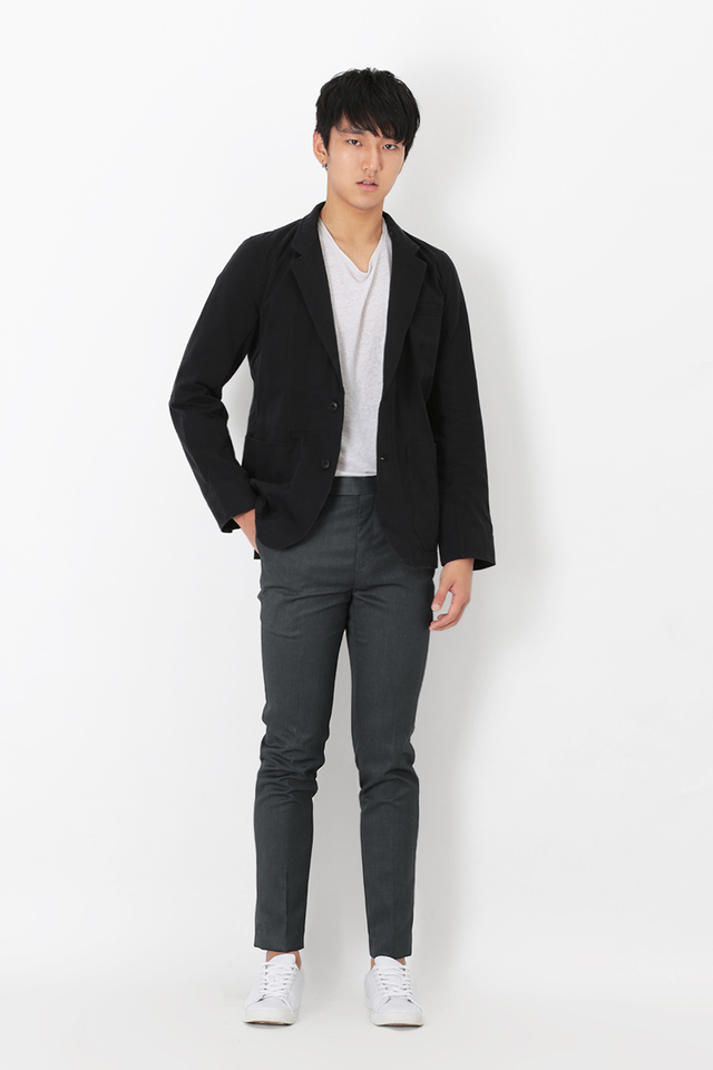 SLIM-FIT SUIT TROUSERS IN CHARCOAL