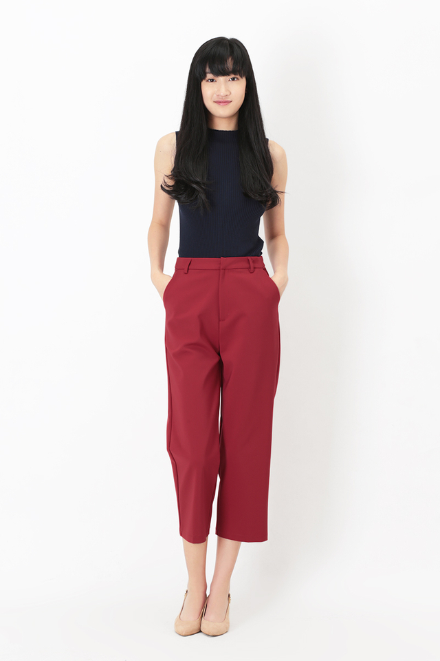 SONYA WORK PANTS IN AURORA RED