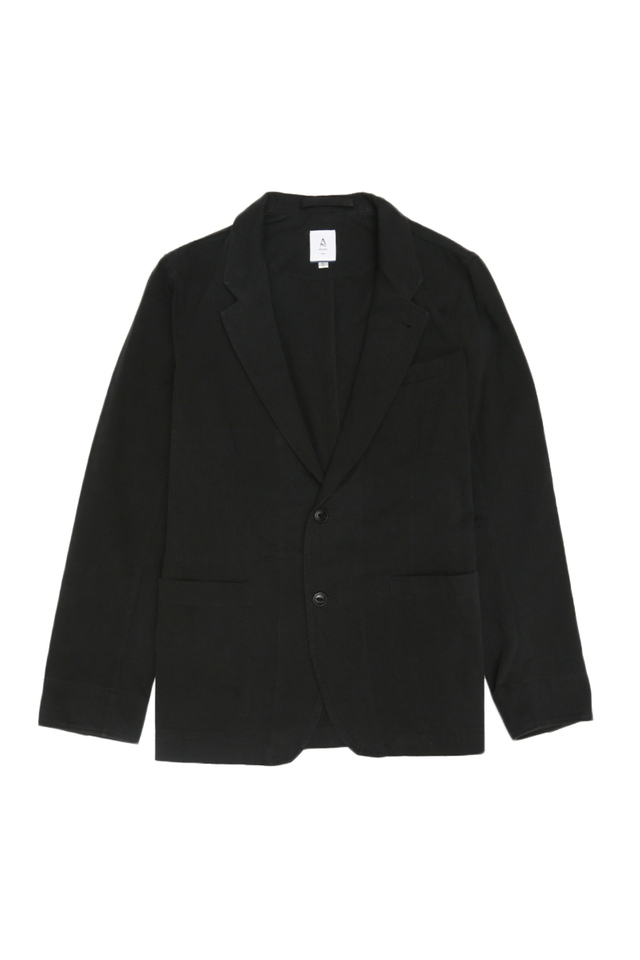 TWILL SPORTS JACKET IN BLACK