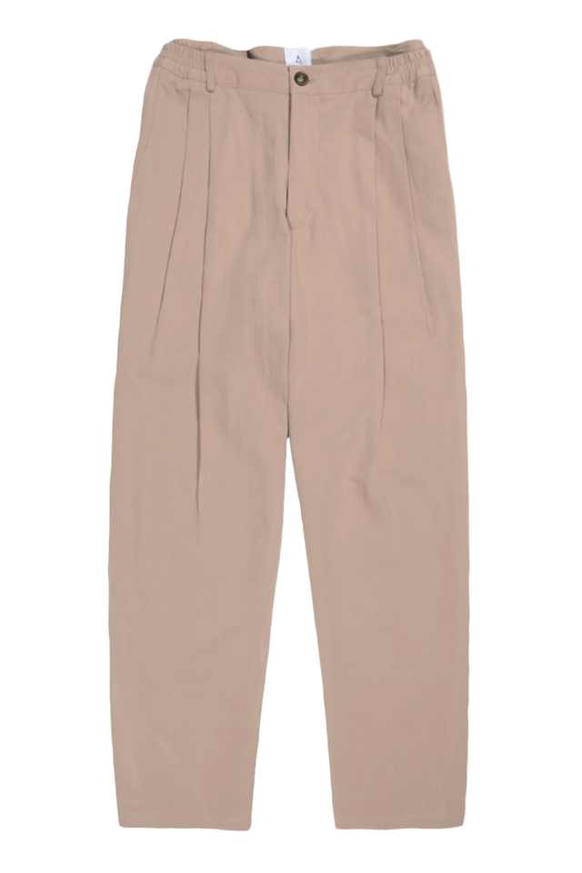 WIDE-FIT PLEATED TROUSERS IN BLUSH