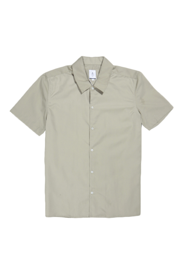 ARCHIE SHORT SLEEVE SHIRT IN PEWTER
