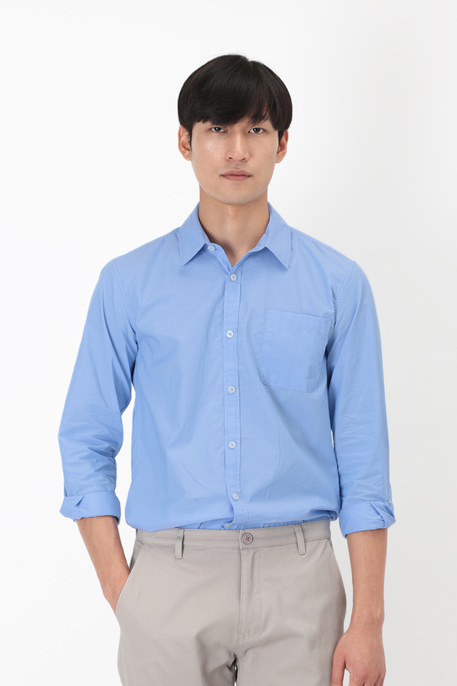 BLAKE SLIM-FIT DRESS SHIRT IN BLUE