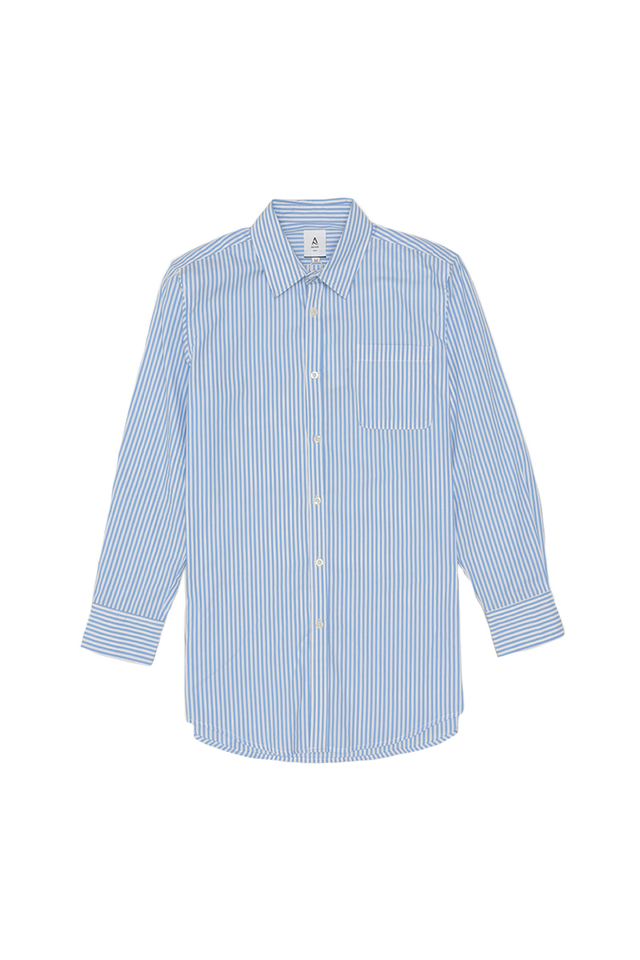 BLAKE SLIM-FIT STRIPED DRESS SHIRT IN SKY