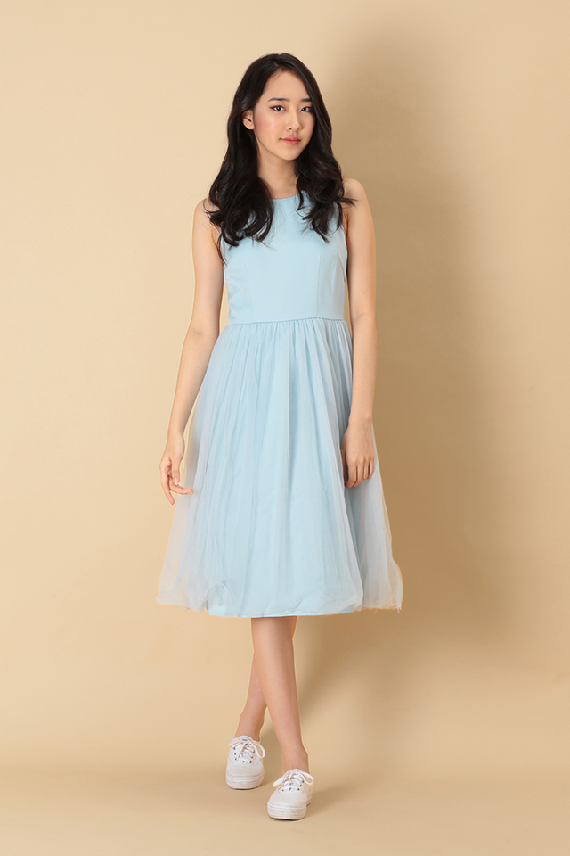CHARLOTTE TULLE DRESS IN SKY