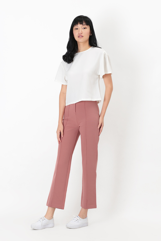 KAIA CENTRE STITCH PANTS IN MAUVE PINK