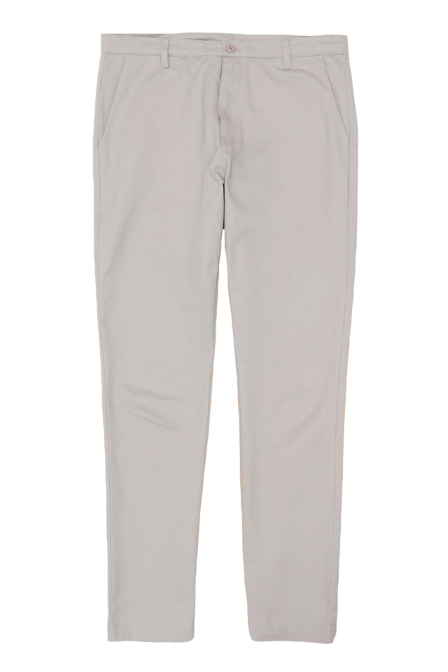 PERRY SLIM-FIT CHINOS IN LIGHT GREY