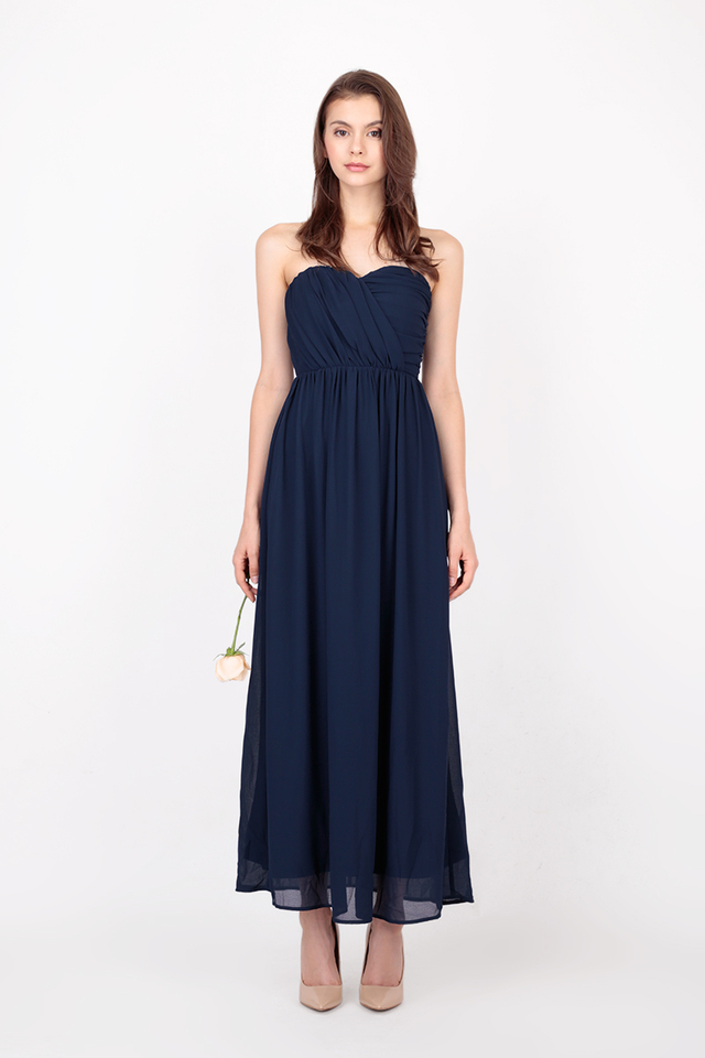 NATALIE RUCH MAXI DRESS IN NAVY