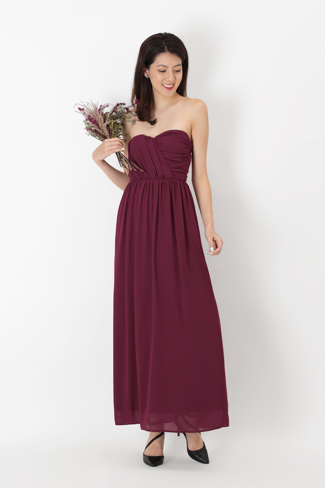 NATALIE RUCH MAXI DRESS IN WINE