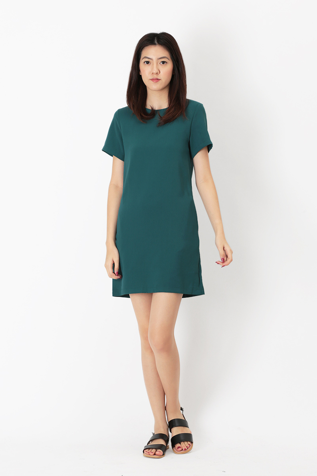 ADDIE TEE DRESS IN PINE