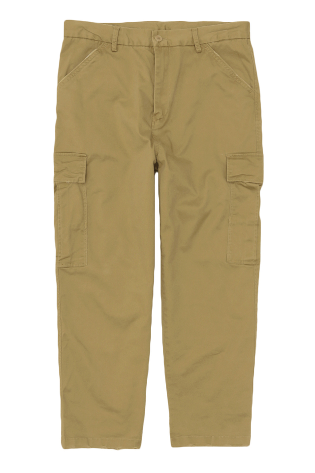 DISTRESSED CARGO TROUSERS IN KHAKI