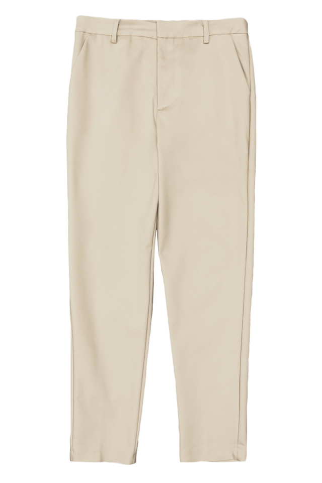 OLLIE SKINNY-FIT TROUSERS IN CREAM