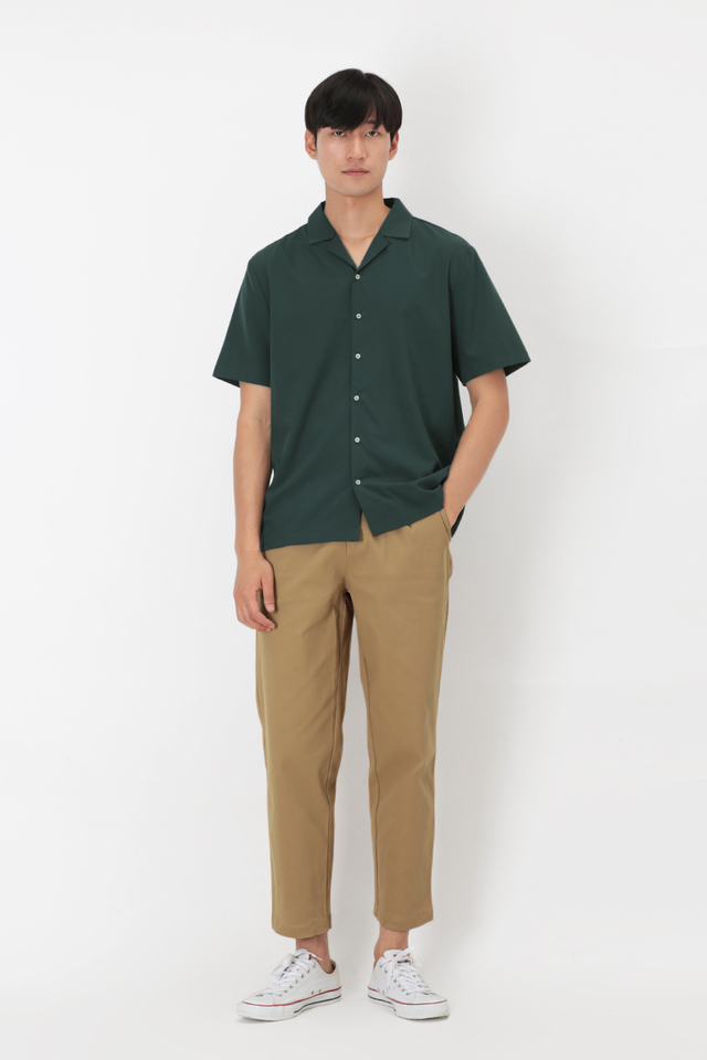 WYATT WIDE-FIT CHINOS IN KHAKI