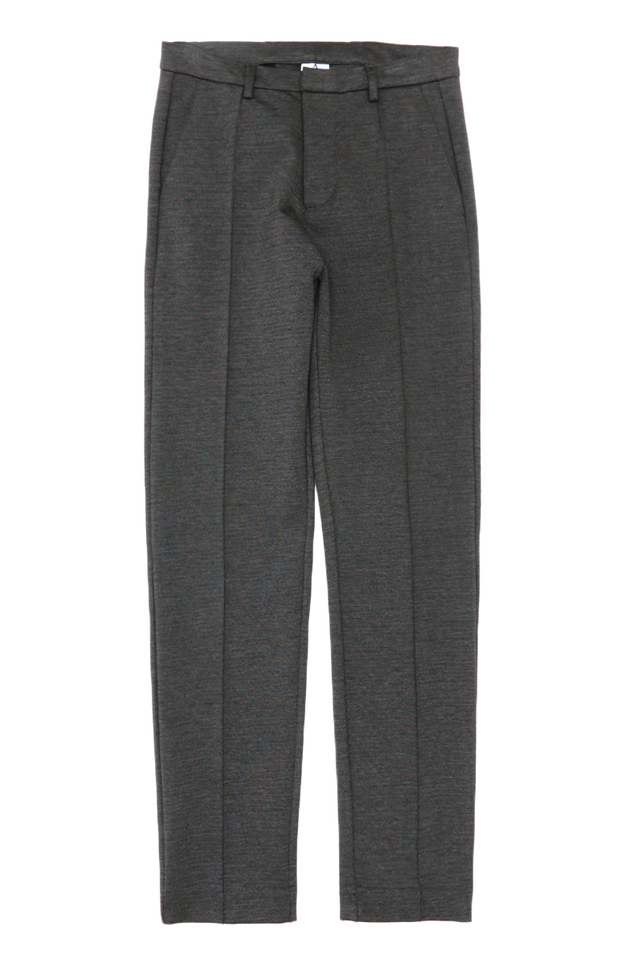 ANDERS CENTRE STITCH TROUSERS IN CHARCOAL
