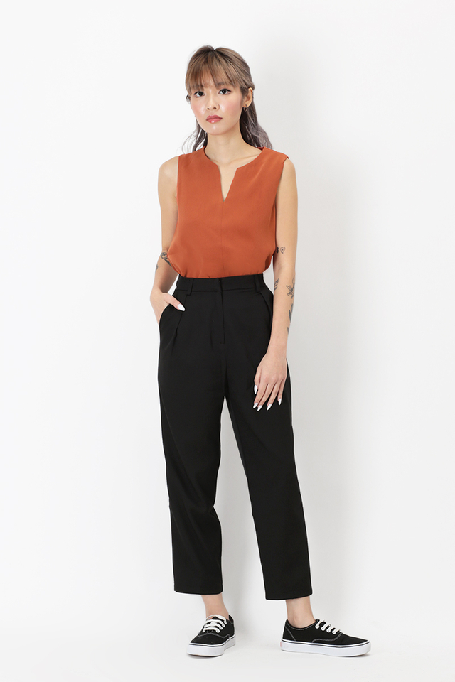 LUCKY STRIKE CIGARETTE TROUSERS IN BLACK