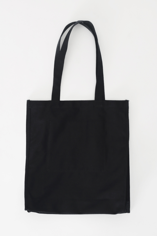 ARCADE SCRIPT LOGO TOTE BAG IN BLACK