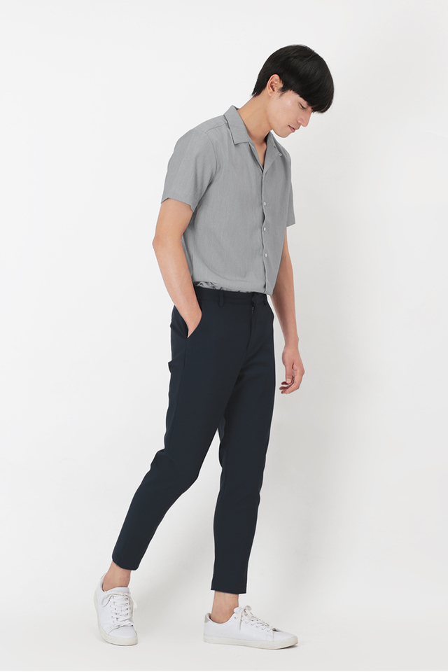 OLLIE SKINNY-FIT TROUSERS IN NAVY