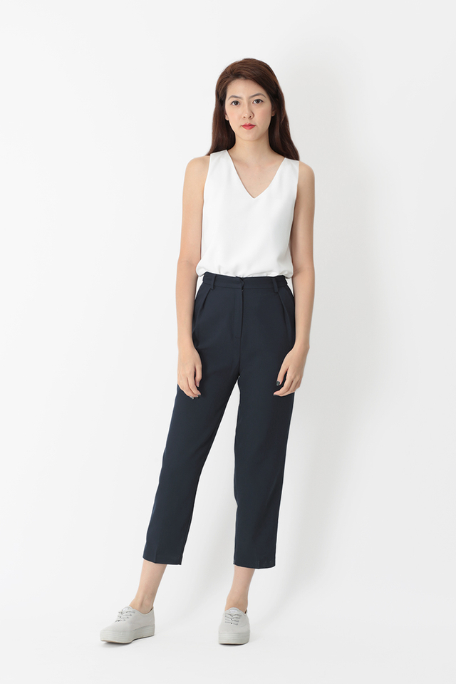 LUCKY STRIKE CIGARETTE TROUSERS IN NAVY