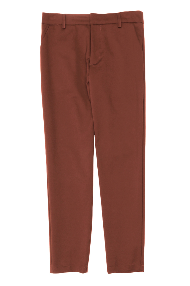 OLLIE SKINNY-FIT TROUSERS IN RUSSET