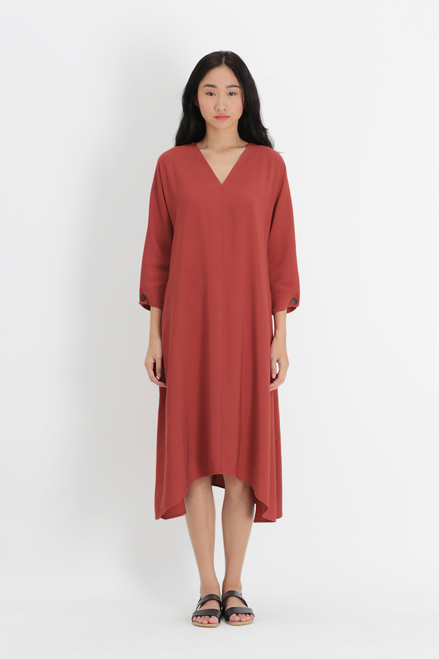 ALESSANDRA V-NECK PILGRIM DRESS IN AUTUMN