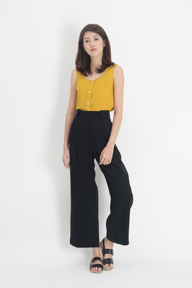 ANGELES PALAZZO PANTS IN BLACK