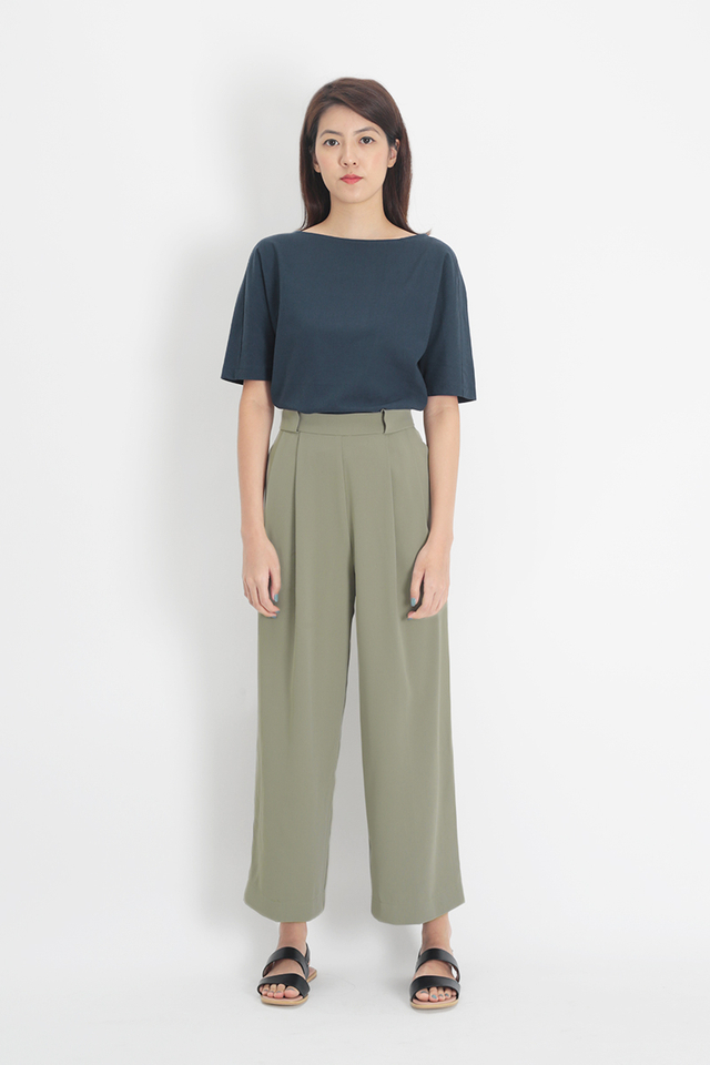 ANGELES PALAZZO PANTS IN SAGE