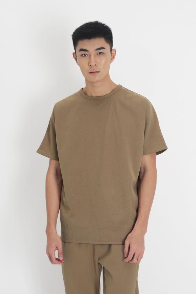 ARLO OVERSIZED TOP IN TAN