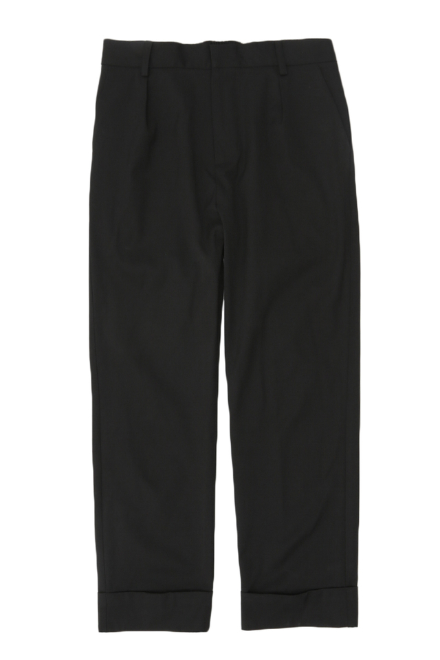 LOWELL TAPERED-FIT TROUSERS IN BLACK
