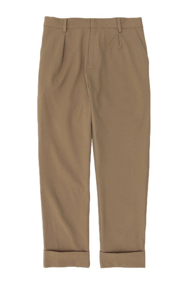 LOWELL TAPERED-FIT TROUSERS IN TAN