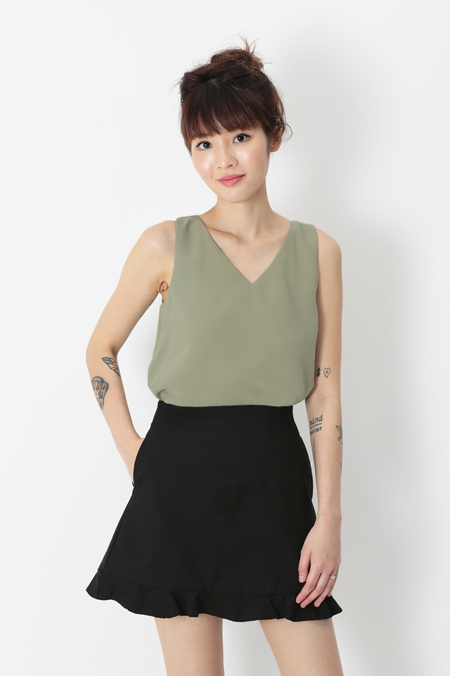 TARA TWO WAY TANK TOP IN SAGE