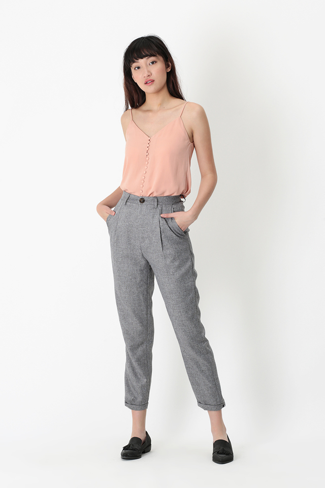 EMERY PEG LEG PANTS IN SUIT GREY